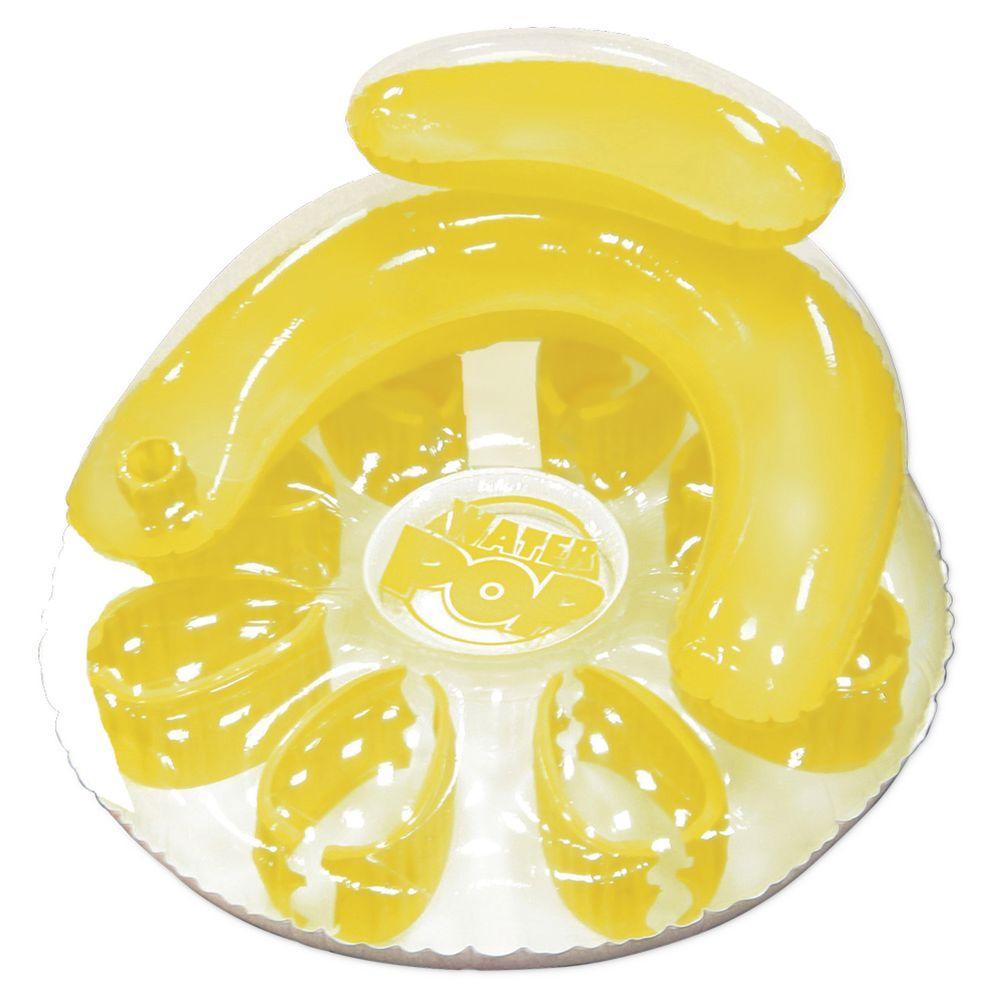 Yellow Water Pop Circular Swimming Pool Float
