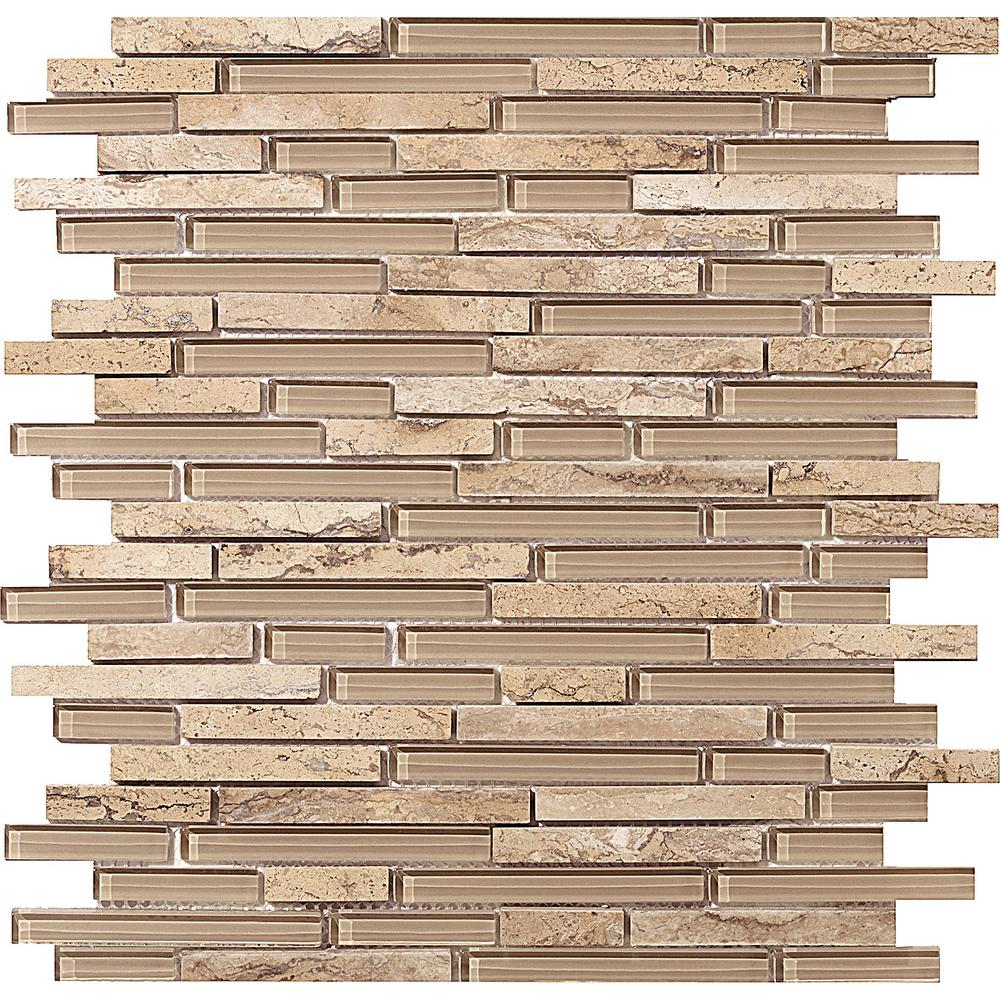 Emser Lucente Regale Gloss/Matte Mix 12.05 in. x 12.05 in. x 8mm Glass Mesh-Mounted Mosaic Tile