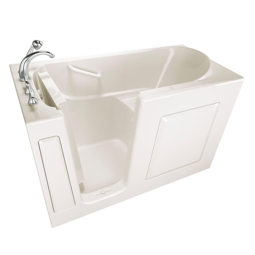 Safety Tubs Value Series 60 in. Walk-In Air Bath Bathtub in Biscuit ...