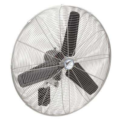 30 in. High-Velocity Oscillating Wall Mount Fan