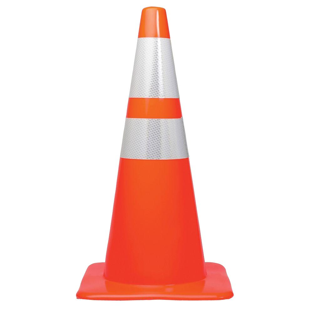 Tatco 28 in. Traffic Cone-TCO25900 - The Home Depot Traffic Cone On Road