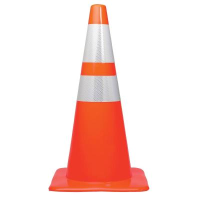 CJ Safety 28 Orange PVC Traffic Safety Cones with Black Base /& 6 Reflective Collar Set of 24 24 Cones