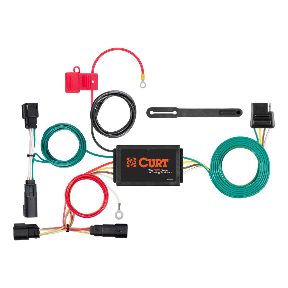 Magnificent Curt Custom Wiring Harness 4 Way Flat Output 56315 The Home Depot Wiring Digital Resources Funapmognl