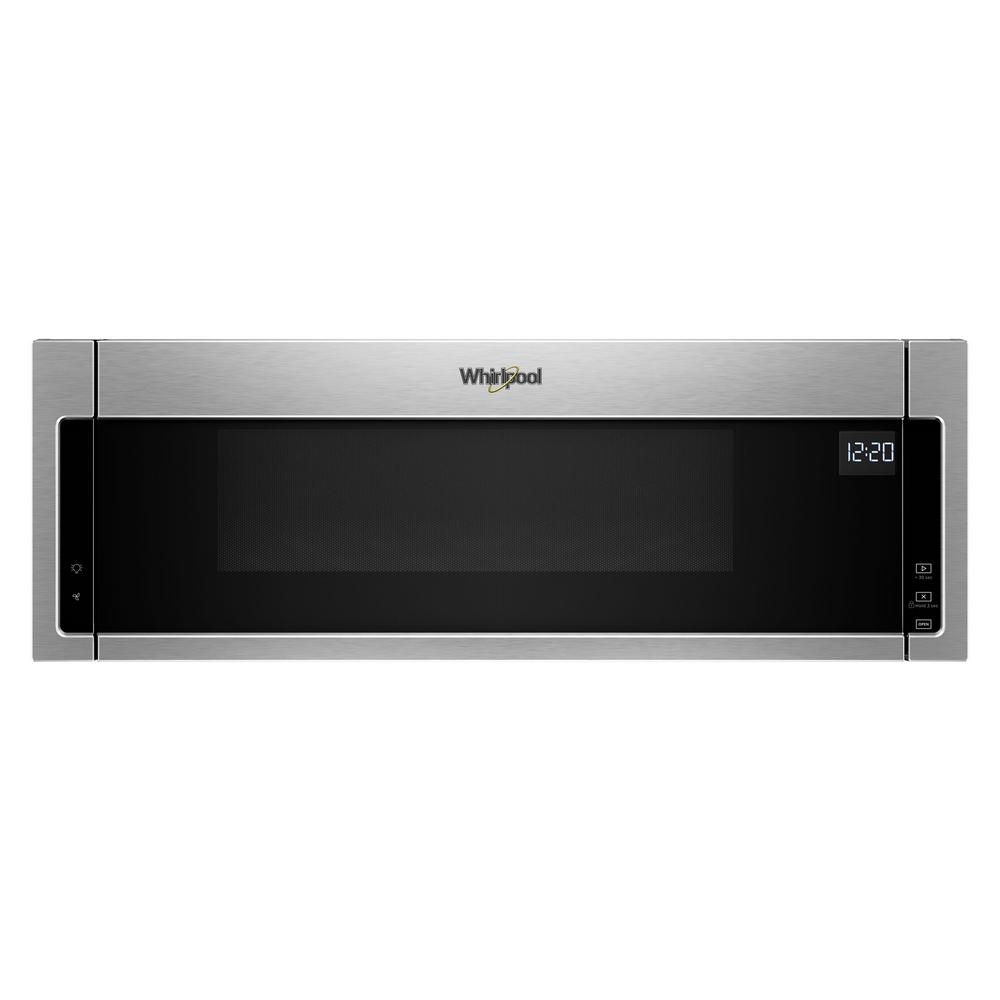Whirlpool 1 Cu Ft Over The Range Low Profile Microwave Hood Combination In Stainless Steel