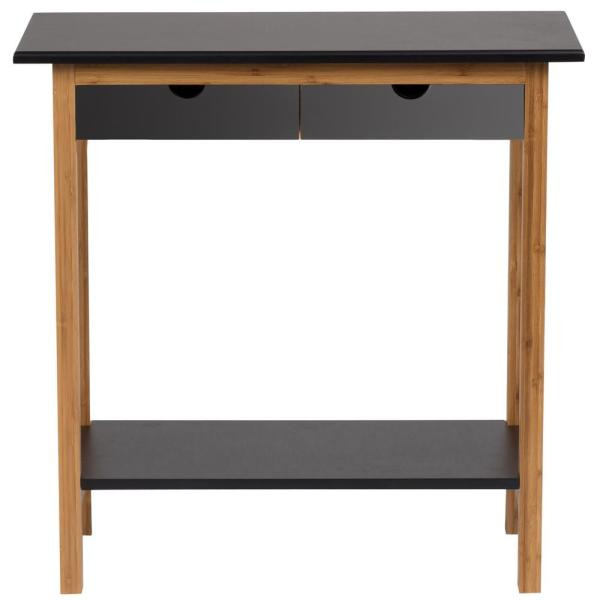 Black 2-Drawer Console Table