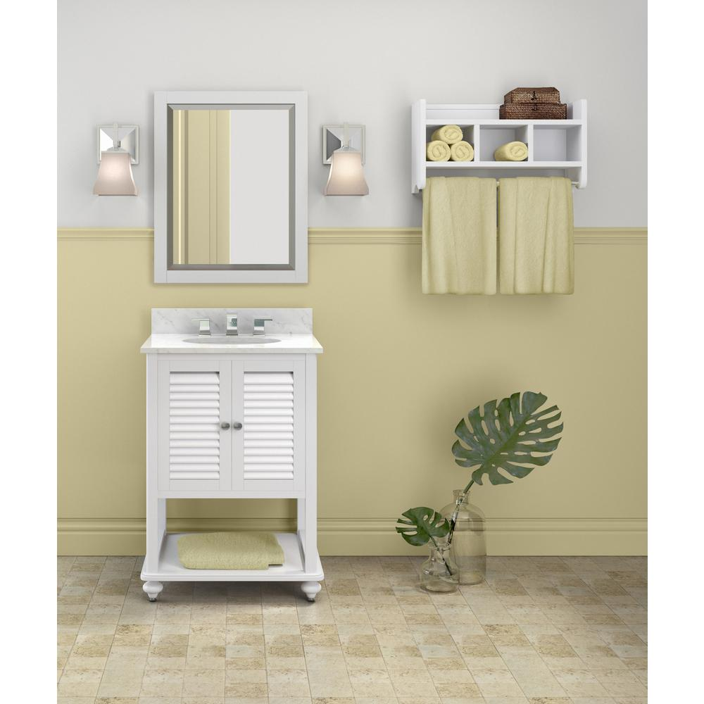 Alaterre Furniture Tahiti 25 in. W x 22 in. D Vanity in W...
