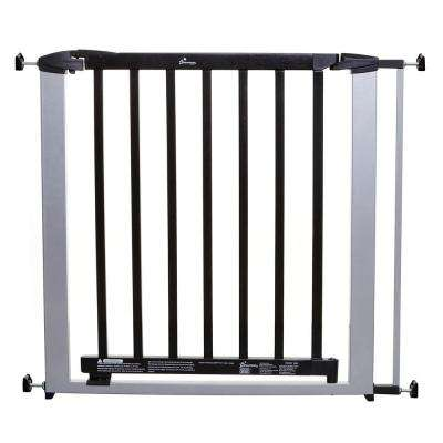 29 in. H Windsor Gate in Silver Color with Dark Wood