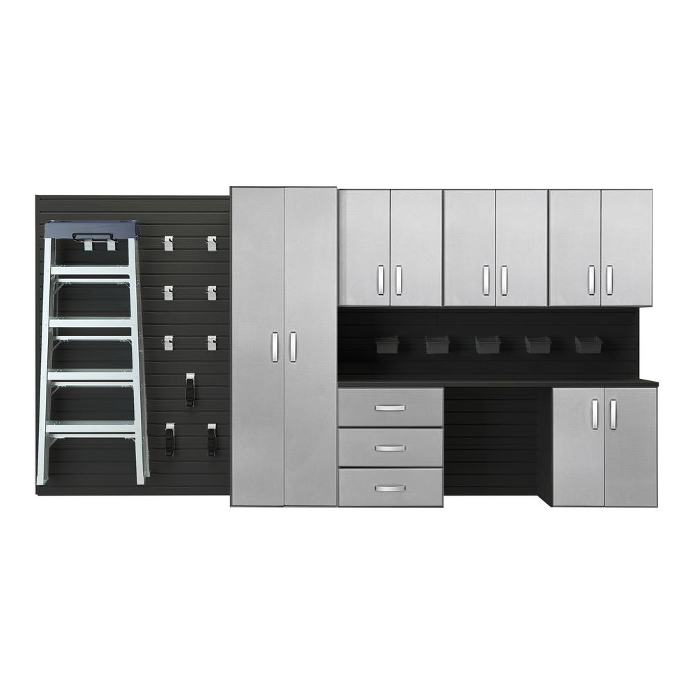 Modular Wall Mounted Garage Cabinet Storage Set with Workstation and