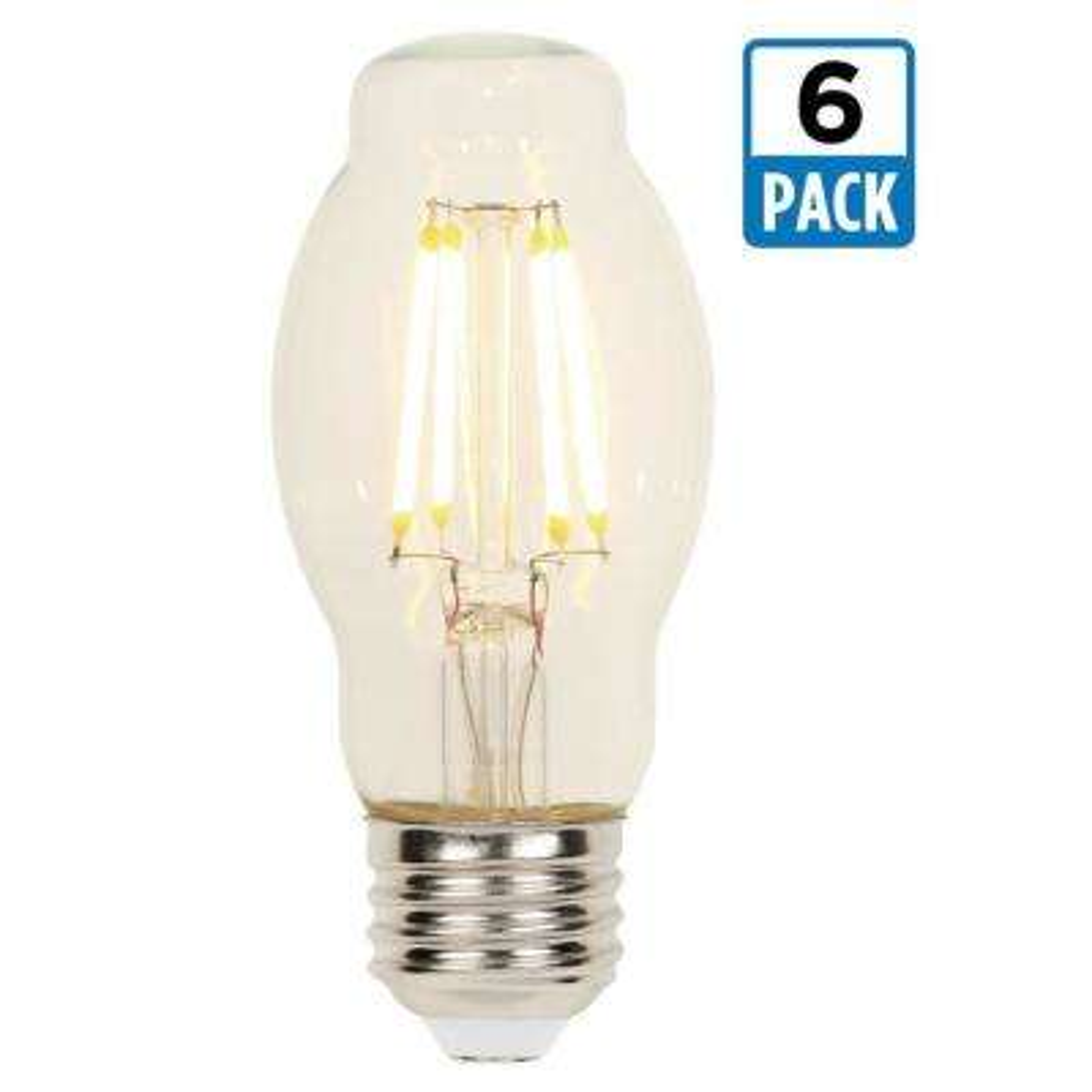 40-Watt Equivalent BT15 Dimmable 2700K Filament LED Light Bulb (6-Pack)