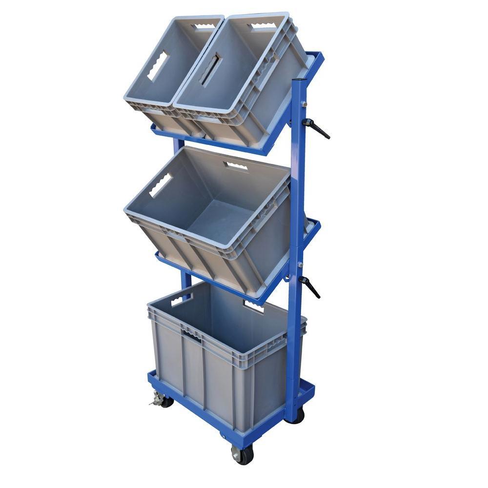 200 lb. Capacity 3 Shelf 3 Basket Multi-Tier Cart
