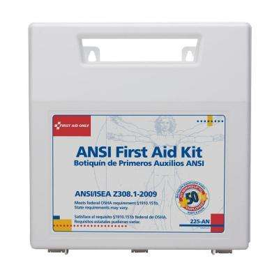 196-Piece First Aid Kit with Plastic Carry Case