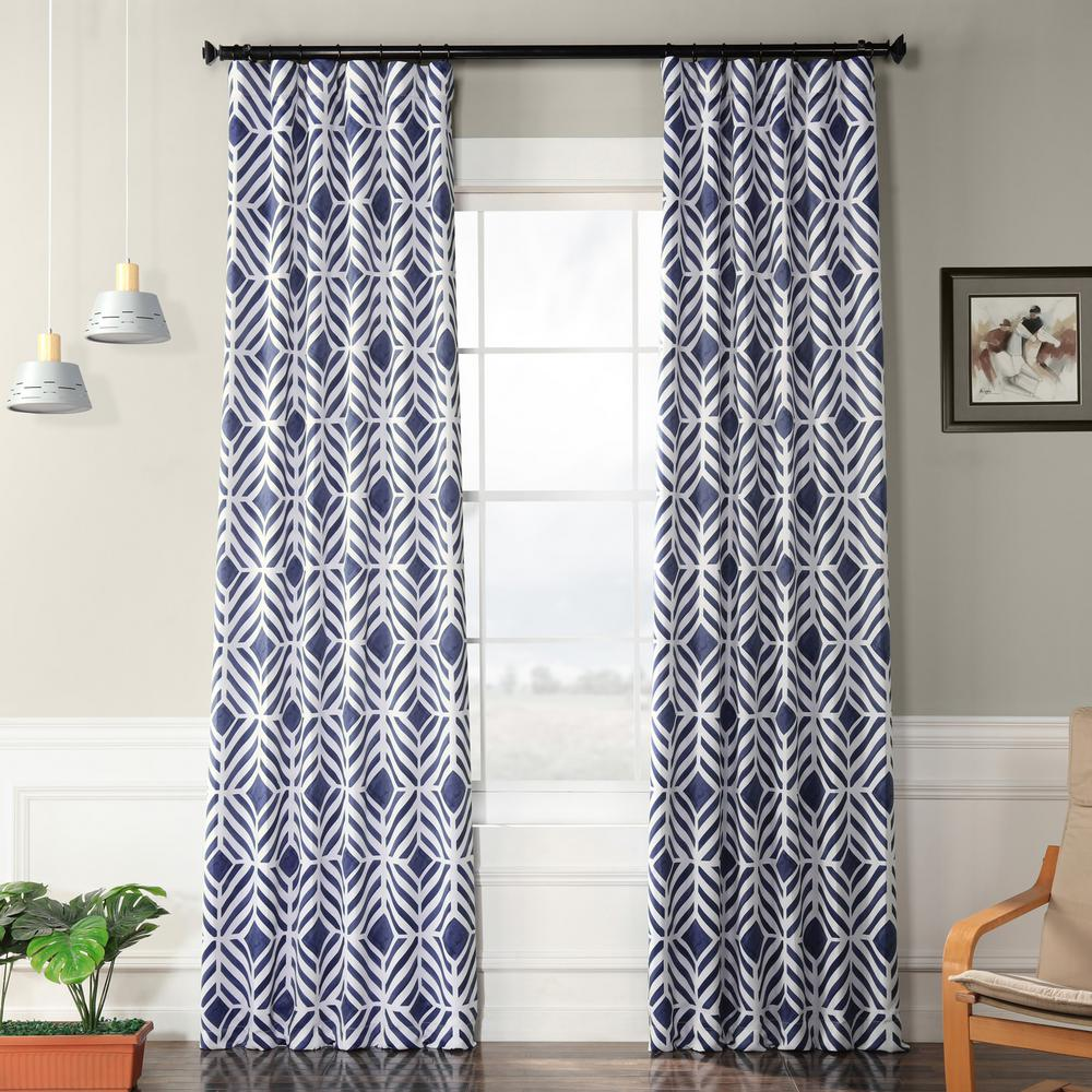 Exclusive Fabrics & Furnishings Palisade Blue Blackout Curtain - 50 in. W x 96 in. L