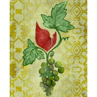 """16 in. x 20 in. """"Green Glass Vines"""" Planked Wood Wall Art Print"""