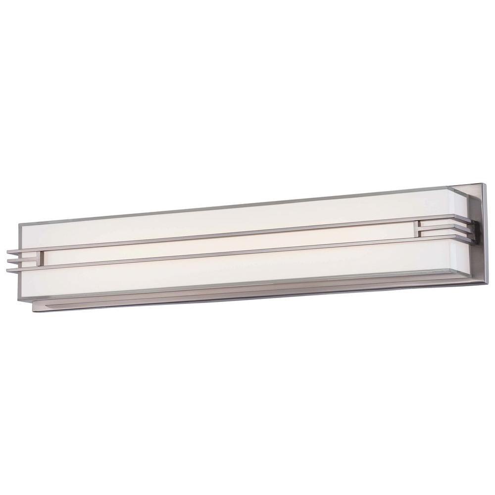 Level LED Bath Brushed Nickel Vanity Light
