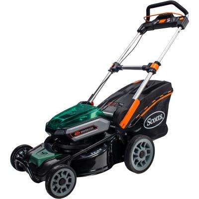 19 in. 40-Volt Lithium-Ion Cordless Battery Walk Behind Push Mower with 5 Ah Battery and Charger Included