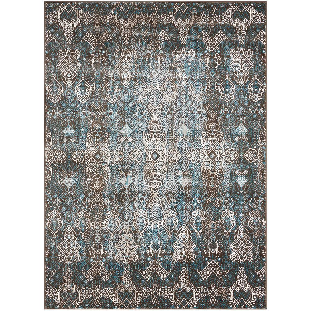 8x10 Area Rugs Wayfair: Nourison Karma Blue 5 Ft. 3 In. X 7 Ft. 4 In. Area Rug