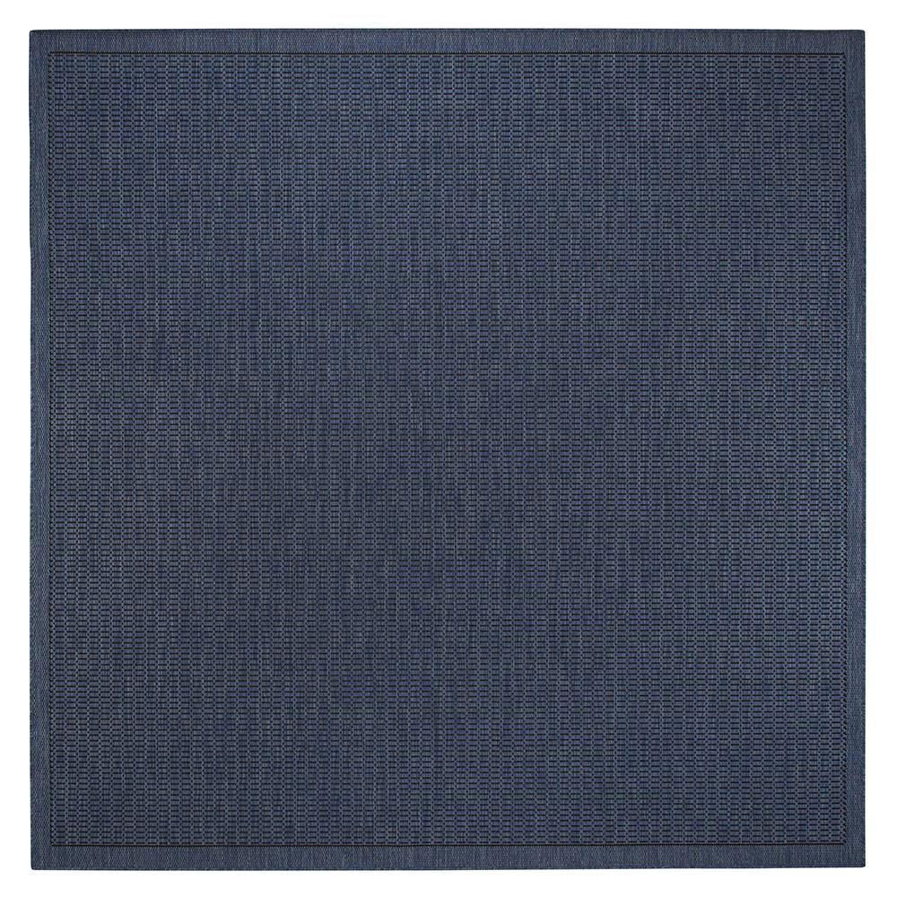Home Decorators Collection Saddlestitch Blue/Black 7 ft. 6 in. Square Area Rug