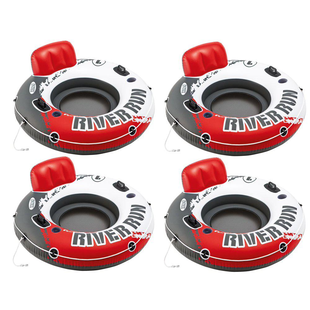 Intex River Run 1 Person Inflatable Floating Tube Lake//Pool//Ocean Raft 8 Pack