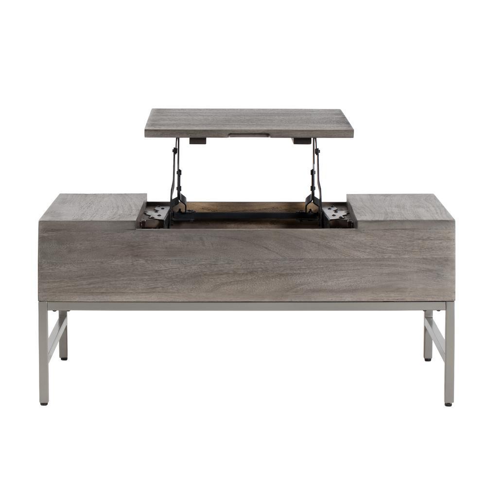 Pamplona Storage Coffee Table Grey 16 Inch Height