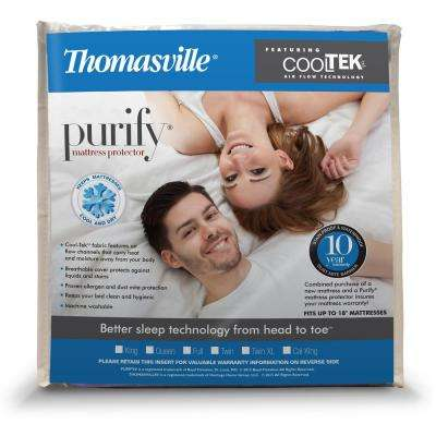 Cooltek Water-Resistant Allergen and Dust Mites Knit Mattress Cover-King