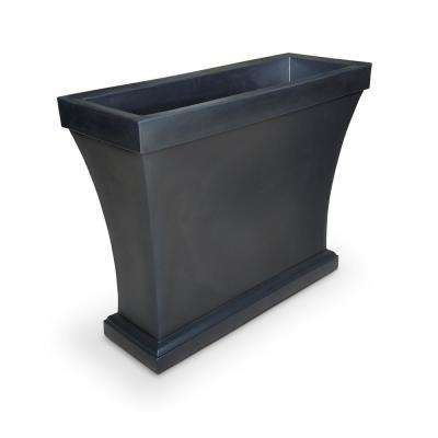 Bordeaux 40 in. Black Plastic Trough Planter