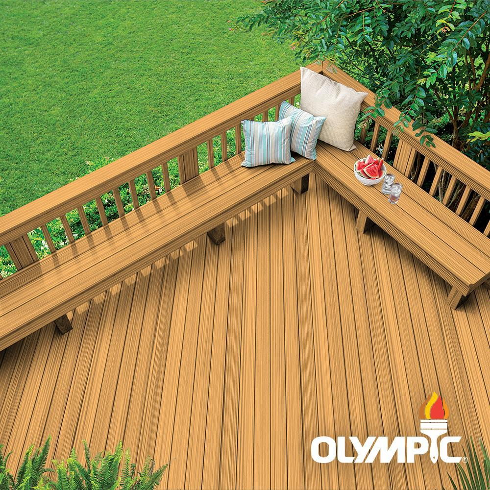Olympic Maximum 1 gal. Cedar Natural Tone Semi-Transparent Exterior Stain and Sealant in One, Browns/Tans -  79551A-01