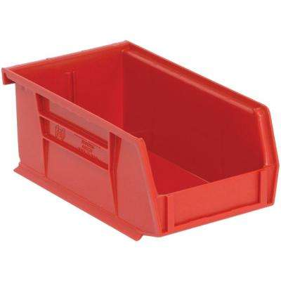 Exceptionnel 1.45 Qt. Stackable Plastic Storage Bin In Red ...