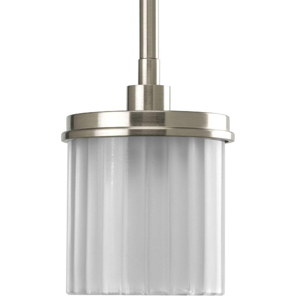 Progress Lighting Encore Collection Brushed Nickel 1-light Mini-Pendant-DISCONTINUED