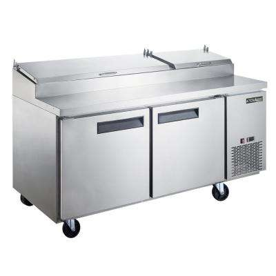 17.5 cu. Ft. Commercial 2-Door Pizza Prep Table Refrigerator in Stainless Steel
