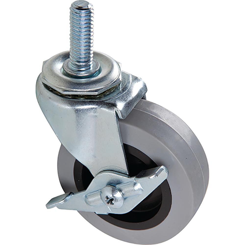 Shepherd 2 5 In Threaded Stem Tpr Caster With 90 Lb Load Rating