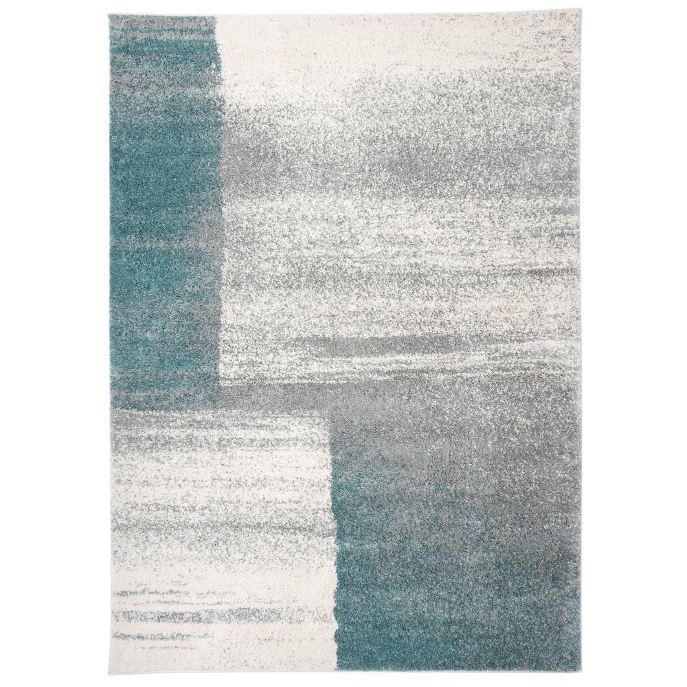 World Rug Gallery Contemporary Distressed Boxes Design Ultra Soft