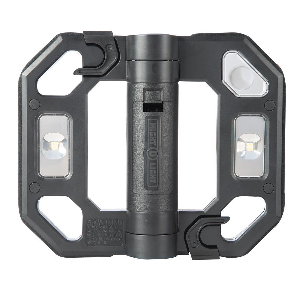 200-Lumen Black Mini Compact Folding LED Work Light