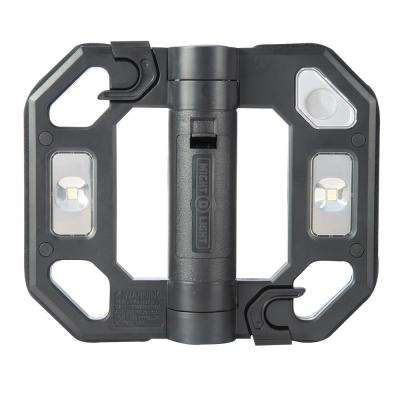 200-Lumen Black Mini Compact Folding LED Work Light