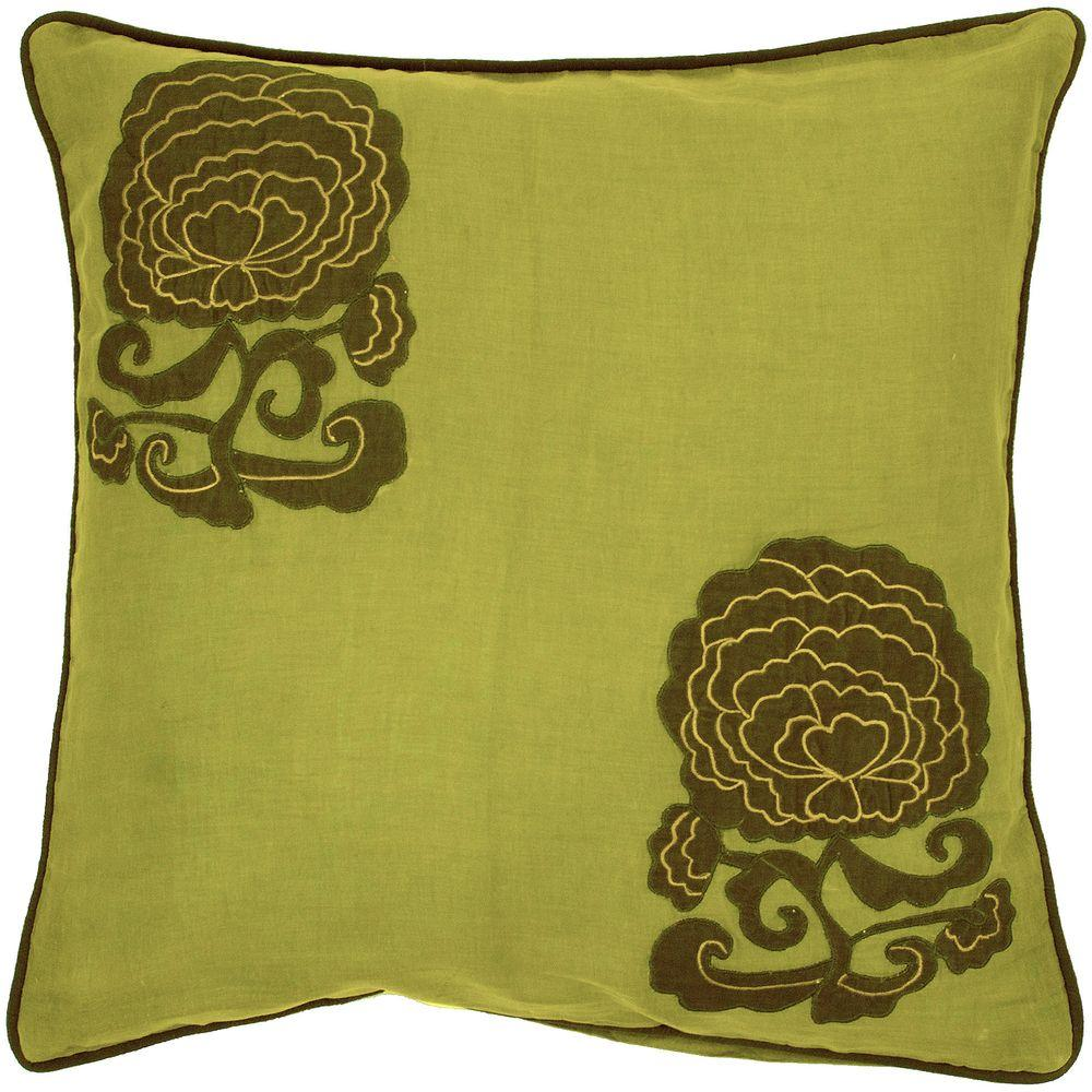 Decorative Down Pillows : Artistic Weavers FloraB 22 in. x 22 in. Decorative Down Pillow-FloraB-2222D - The Home Depot