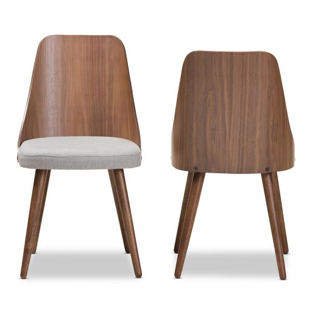 Homesullivan Nobleton Cool Grey Dining Chair Set Of 2