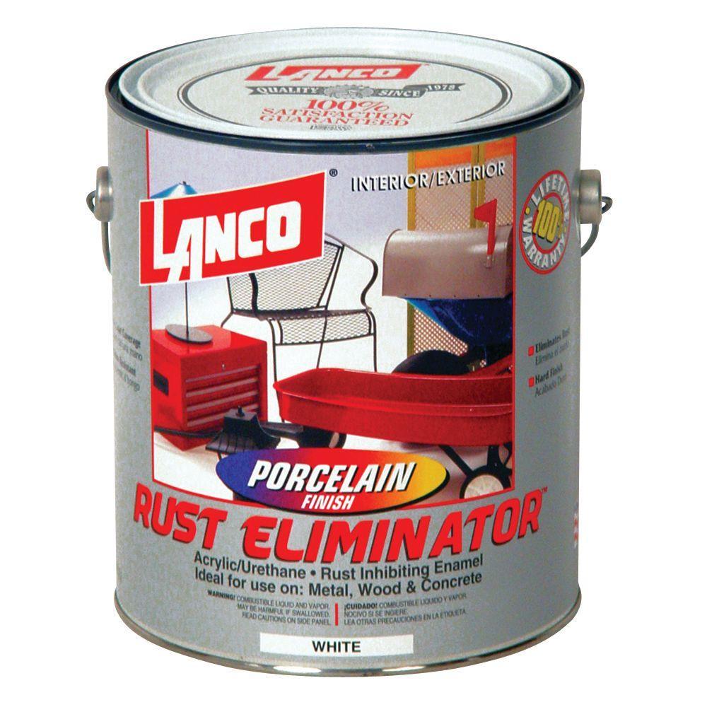 Rust Eliminator 1 Gal. Acrylic-Urethane White Interior/Exterior Porcelain Finish
