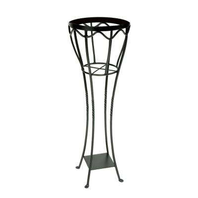 40.5 in. Tall Graphite Powder Coat Iron Indoor/Outdoor Elegant Verandah Plant Stand