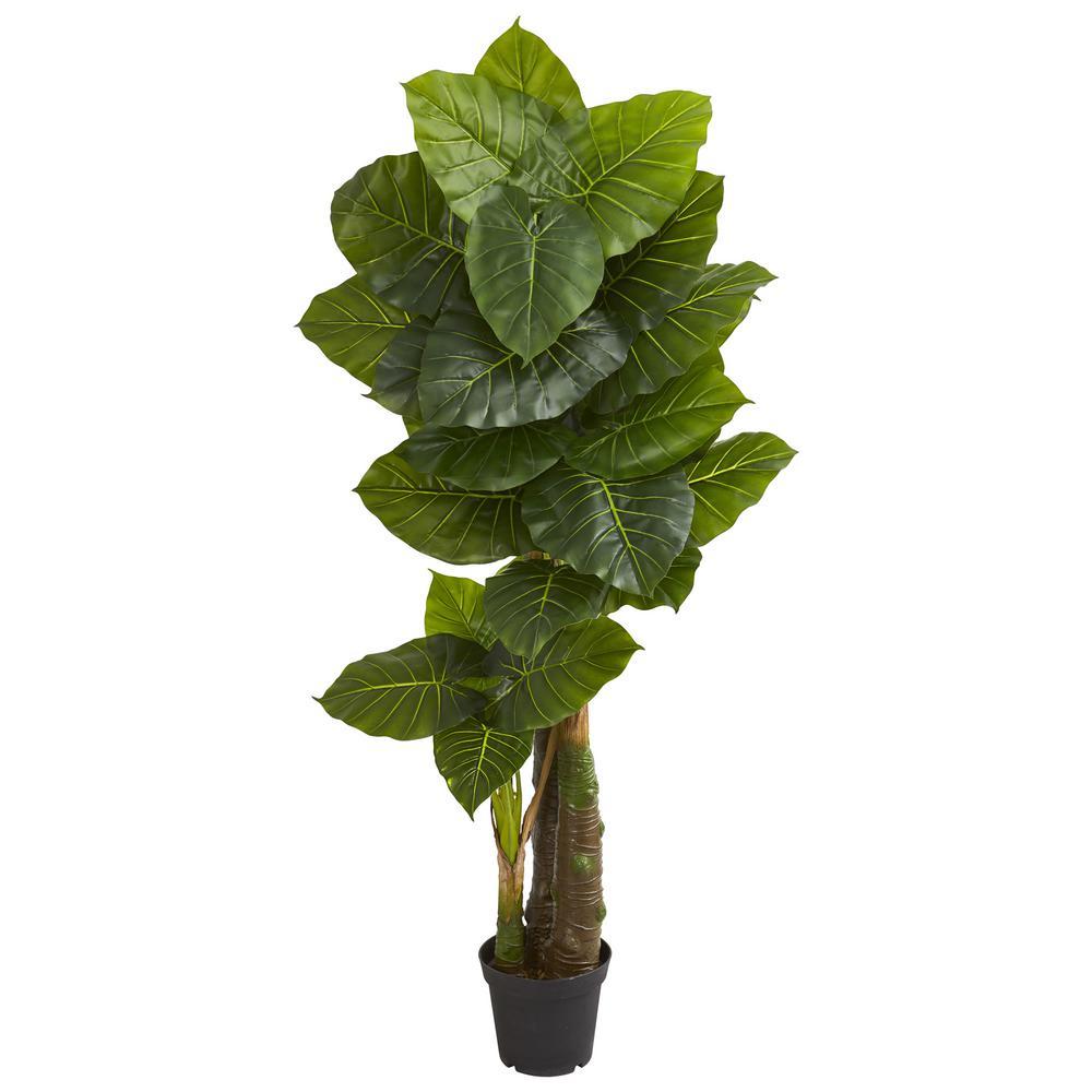 Indoor 6.5 ft. Taro Artificial Tree