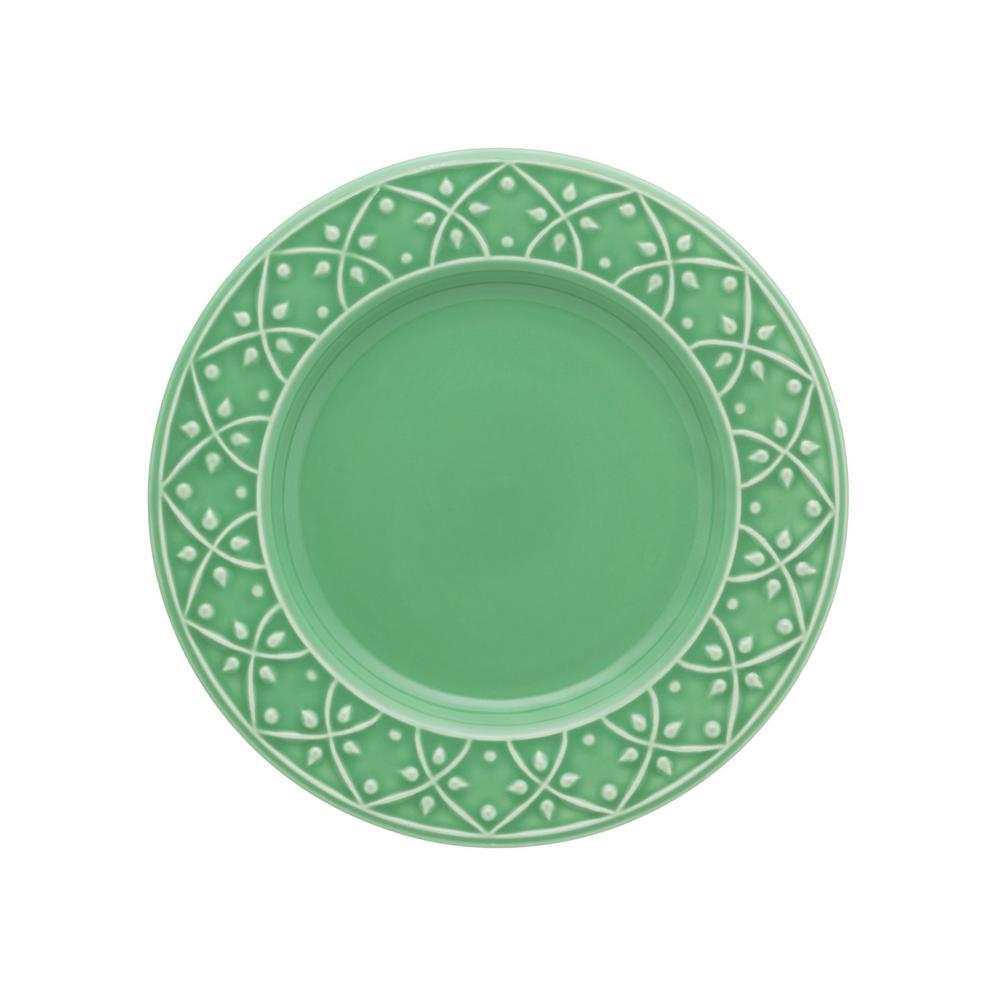 Manhattan Comfort 10.43 in. Mendi Green Dinner Plates (Set of 12) was $169.99 now $92.93 (45.0% off)