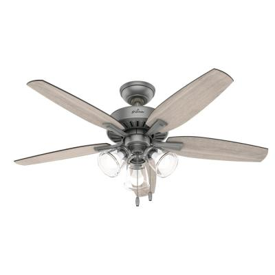 Ferndale 48 in. LED Indoor Matte Silver Ceiling Fan with Light