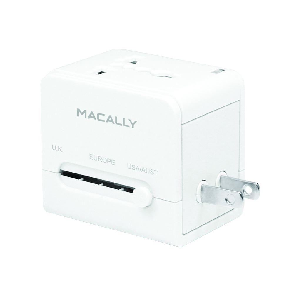 macally portable universal power plug adaptor with an usb port-lp-ptcii