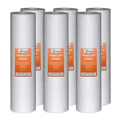 123Filter 20 in. x 4.5 in. 5 Micron Big Blue Sediment Replacement Water Filter Cartridge (Pack of 6)