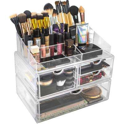 Sorbus 8.75 in. x 11.75 in. Stackable 1-Cube Cosmetic Organizer in Acrylic