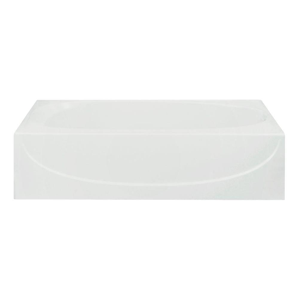 Bootz Industries Maui 5 Ft Right Drain Soaking Tub In