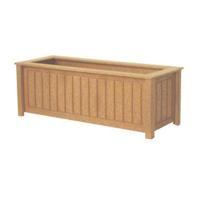 North Hampton 34 in. x 12 in. Cedar Recycled Plastic Commercial Grade Planter Box