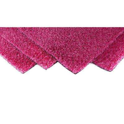 Pink Blend 4 ft. x 6 ft. Artificial Grass Synthetic Lawn Turf Indoor/Outdoor Carpet