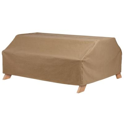 Essential 72 in. W x 57 in. D x 30 in. H Latte Picnic Table Cover