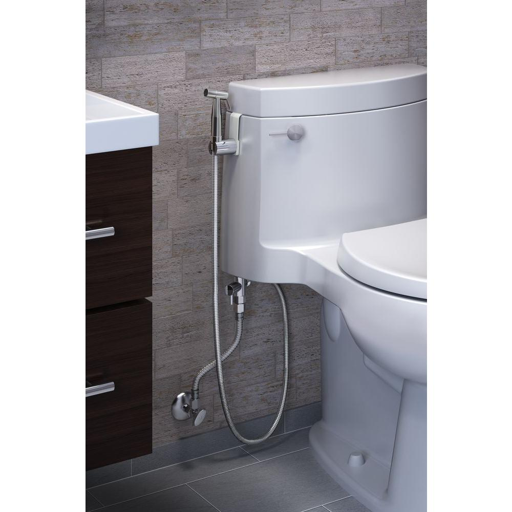 Brondell Cleanspa Luxury Handheld Bidet In Silver Csl 40 The Home Depot