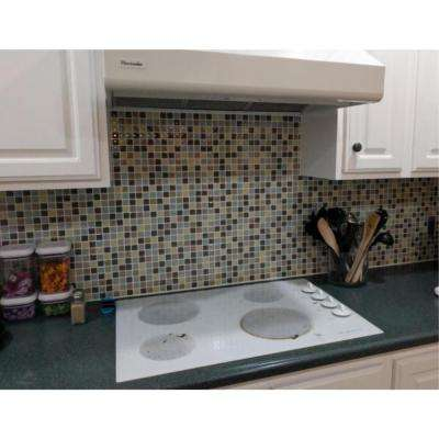 Mosaic Mintgray 10 in. W x 10 in. H Peel and Stick Decorative Mosaic Wall Tile (5-Tiles)