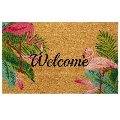 Flamingo Duo Indoor/Outdoor Printed Coir Mat